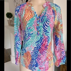 Lilly Pulitzer 100%Silk Blouse